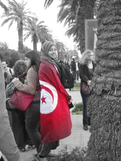 Manifestation pour la dignité en Tunisie. ©Limoune